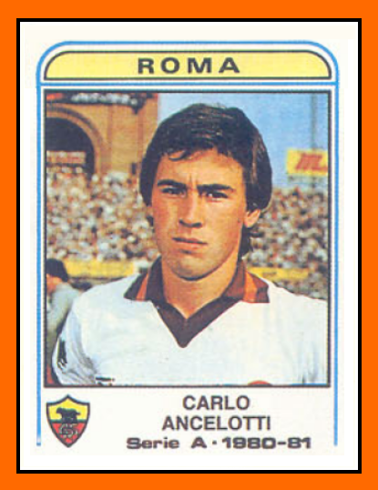 Carlo Ancelotti Panini AS Rome 1981Ancelotti Player