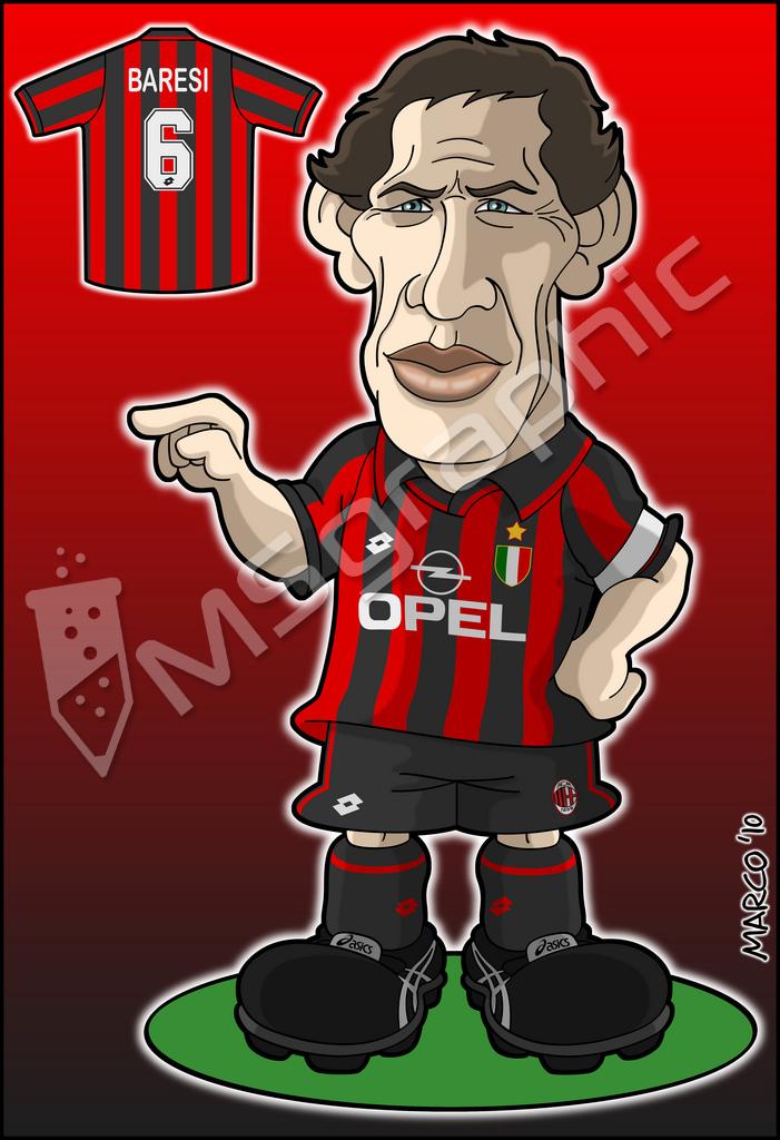 Caricatura Baresi Milan