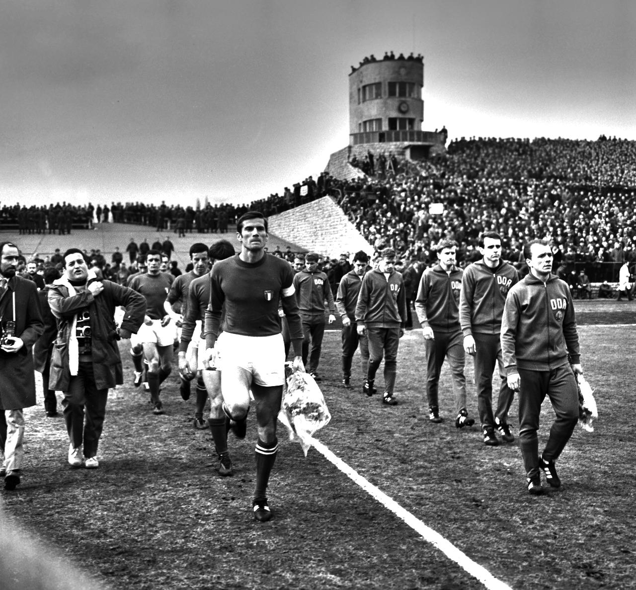 Italy Giacinto Facchetti East Germany Walter Ulbricht Stadion