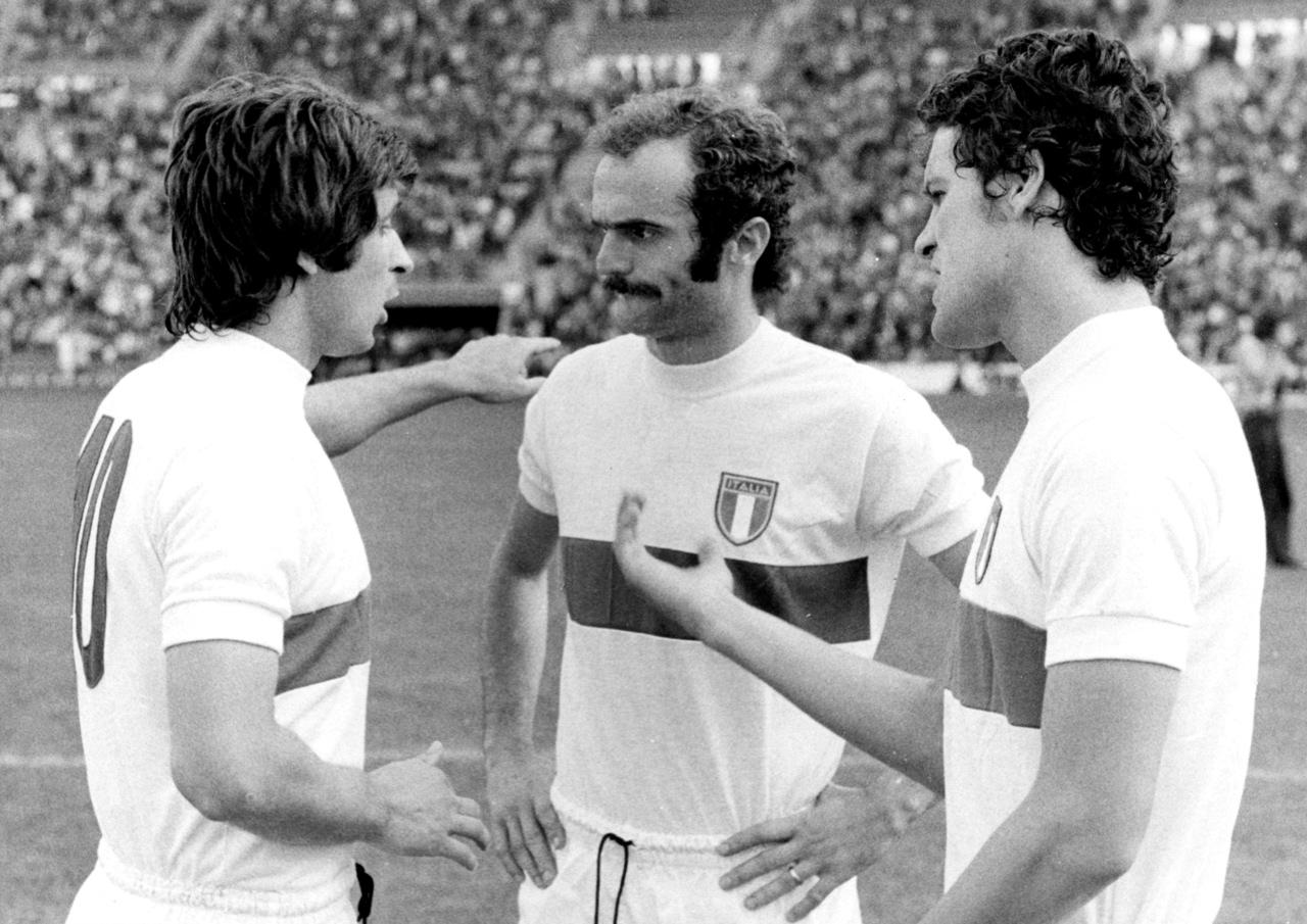 Italy Gianni Rivera Sandro Mazzola Fabio Capello WC1974 – Forza27
