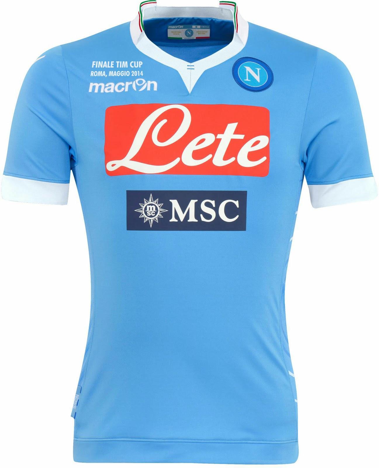 SSC Napoli 2014 Coppa Italia Home Kit (1)
