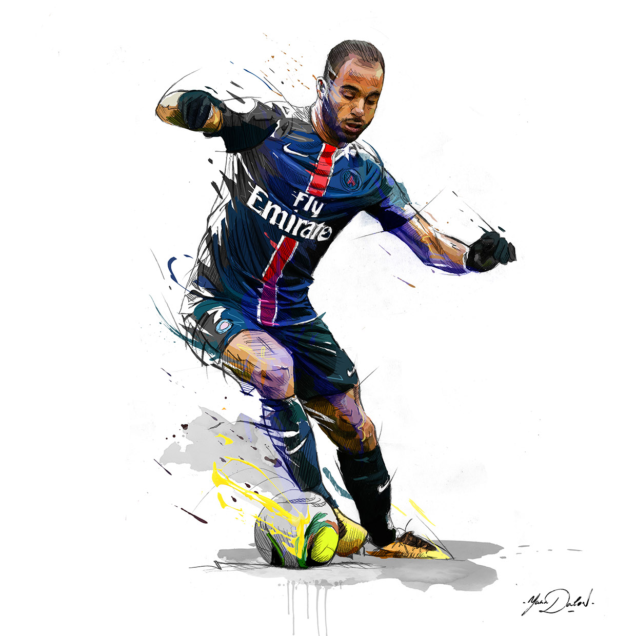 Soccer Players: Yann Dalon's Football Portraits