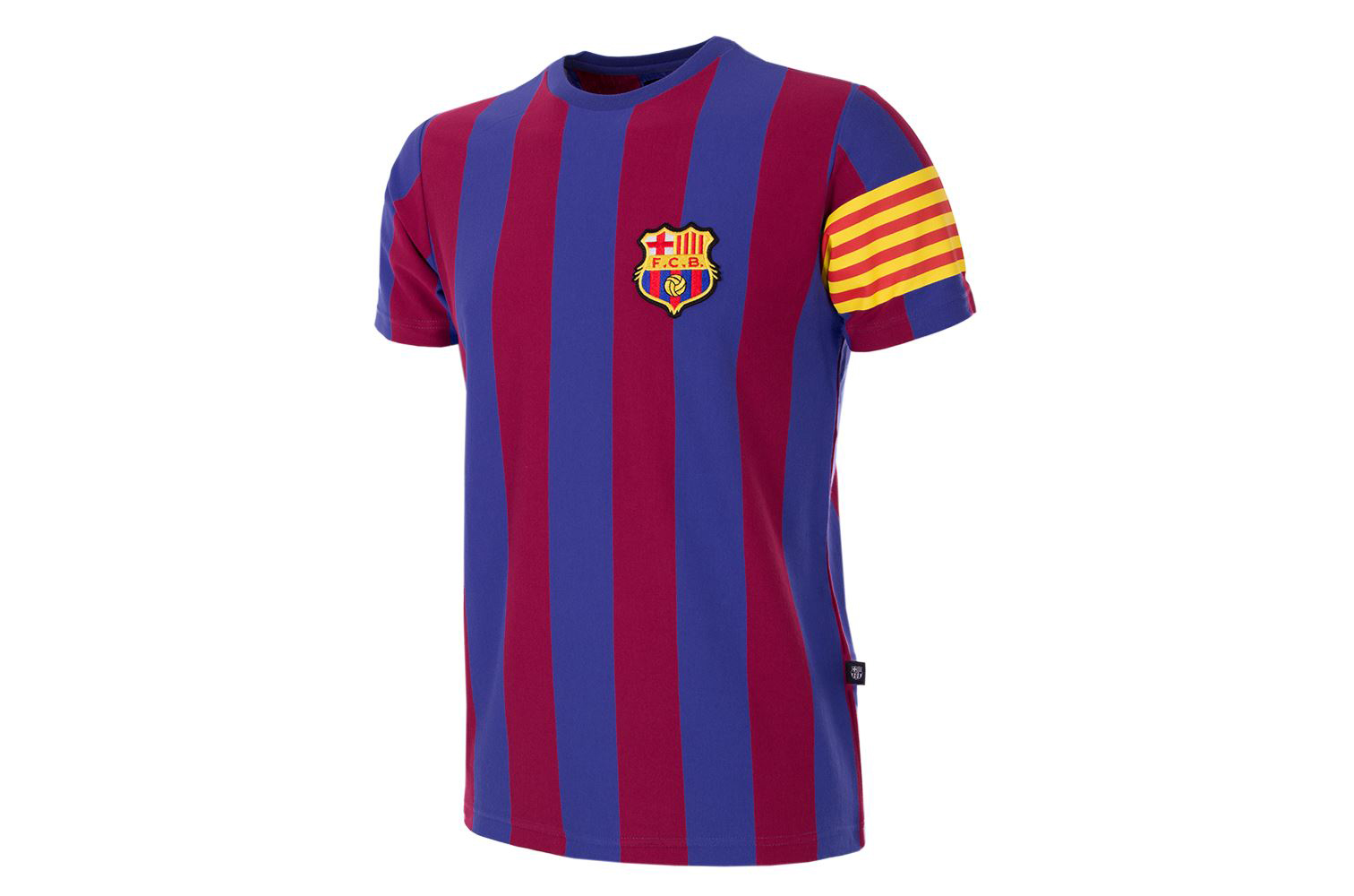 fc barcelona captain retro t shirt forza27. Black Bedroom Furniture Sets. Home Design Ideas