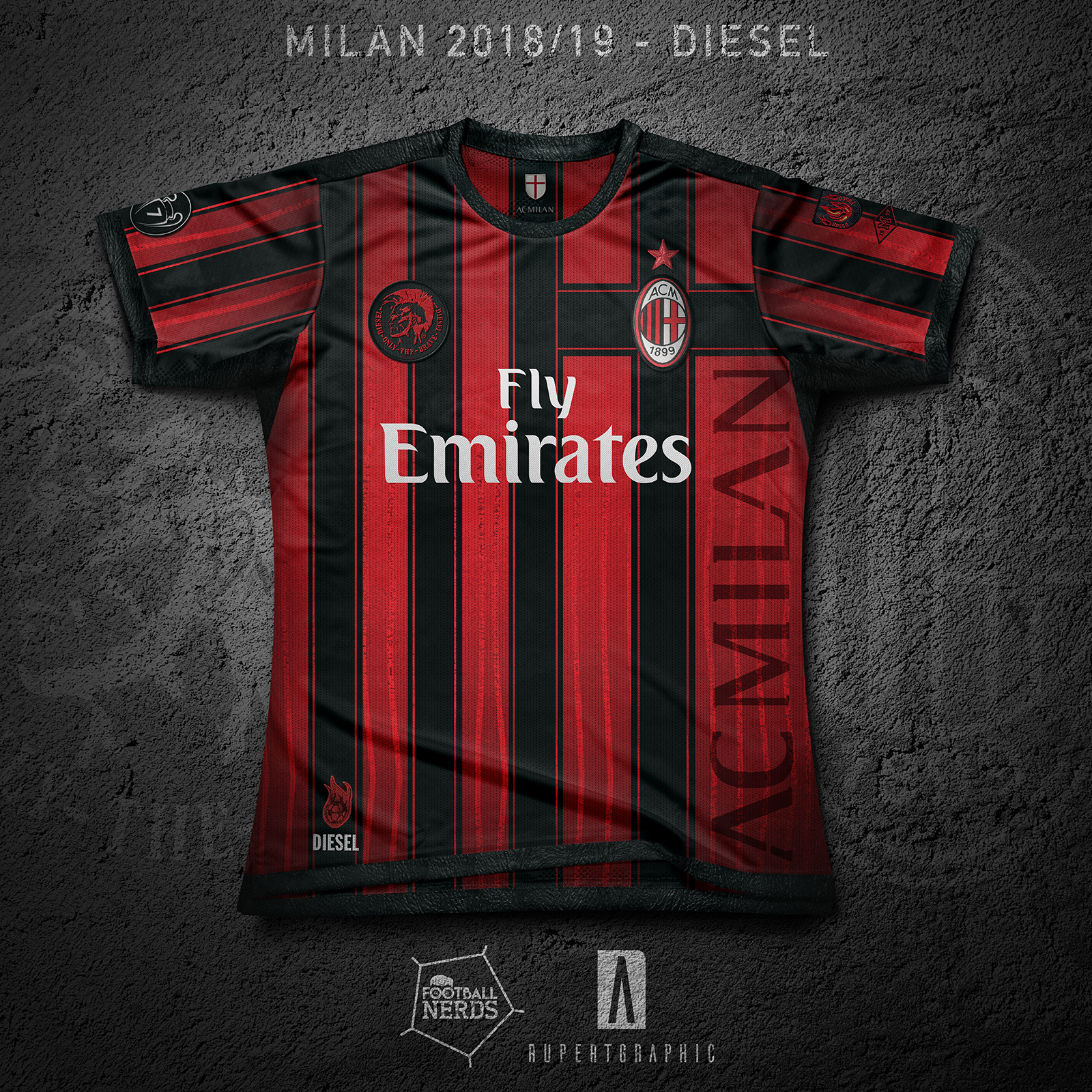 cheap for discount 02999 fd85a AC Milan DIESEL Kit Concept – Forza27