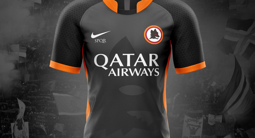 60ee9849bf1 AS ROMA 2018 19 Nike Away Kit Concepts