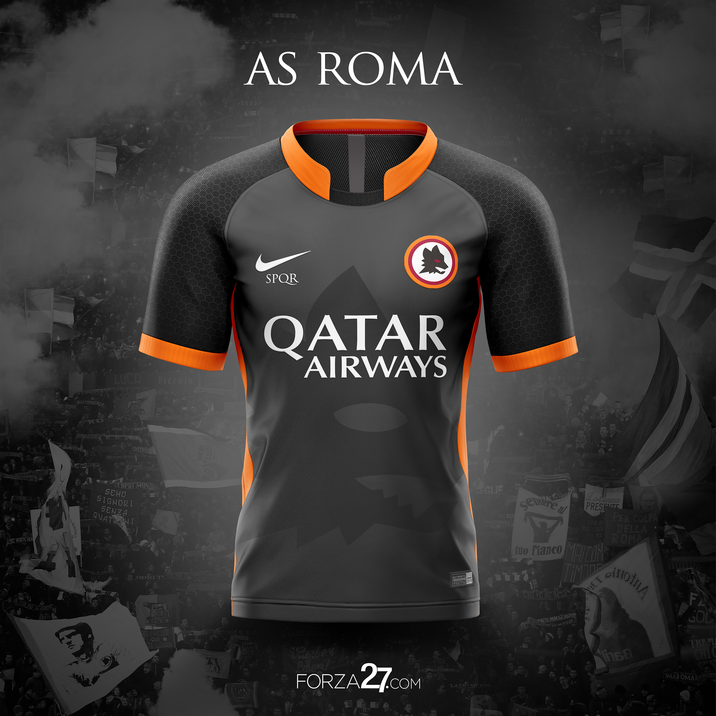 68562abb2 AS ROMA 2018 19 Nike Away Kit Concepts