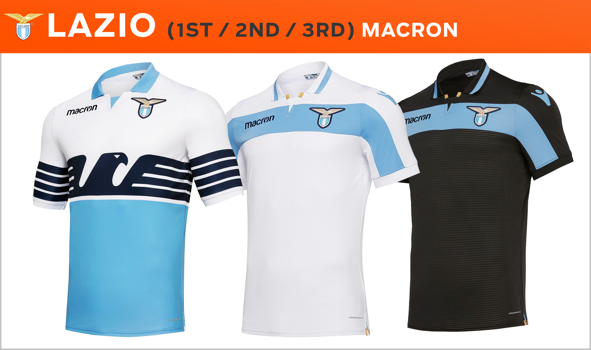 c2a164419f1 Lazio return to their  maglia bandiera  used to much acclaim in 2014-15. The  futuristic eagle design was inspired by ancient Greek legends