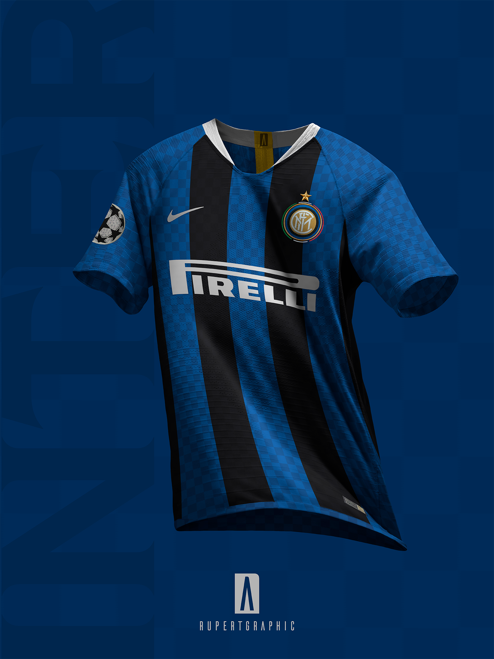 100673d52ae Inter 2019-20 UEFA Kit Concepts by Alberto Mariani