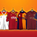 AS Roma Kit Illustrations by Leonardo Secondo