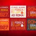 Forza Roma, Forza Lupi Typography Posters