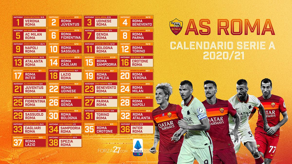 Calendario As Roma Serie A 2021 22 - Calendario 2021