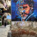 Diego Maradona Napoli Mural by Antonio Cotecchia